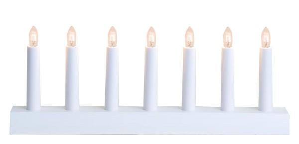 Fensterleuchter IDA - 7 warmweiße Birnchen - L: 39cm, H: 15cm - Schalter - Weiß