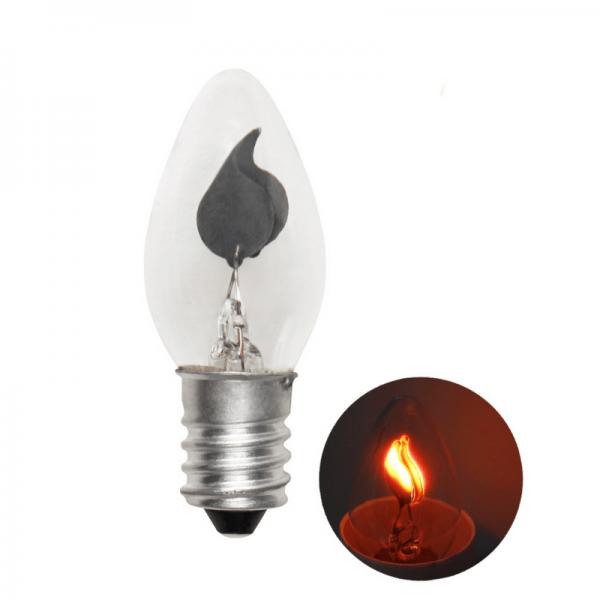 Kerzenlampe flackernd - E14 - 3W - Effektleuchtmittel - klar