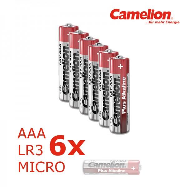 Batterie Mignon AAA LR3 1,5V PLUS Alkaline - Leistung auf Dauer - 6 Stück