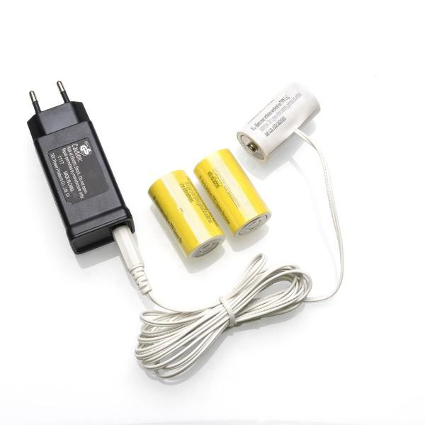 Netzadapter für Batterieartikel (3xC) - Batterie Eliminator - Ersetzt 3 Baby Batterien - Innen