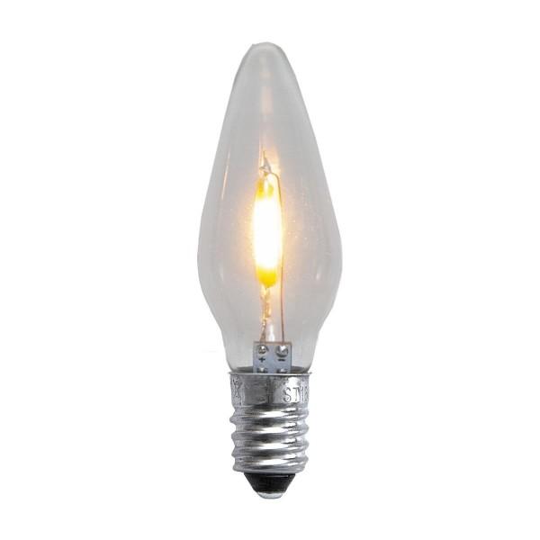 LED Ersatzleuchtmittel für Fensterleuchter - E10 - 0,5W - warmweiß - klar - 23-55V - 3 Stück