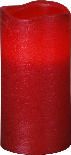 LED-Kerze   Echtwachs   Presse-Design   flackernde LED   Timer   Rot   →7.5cm   ↑15cm