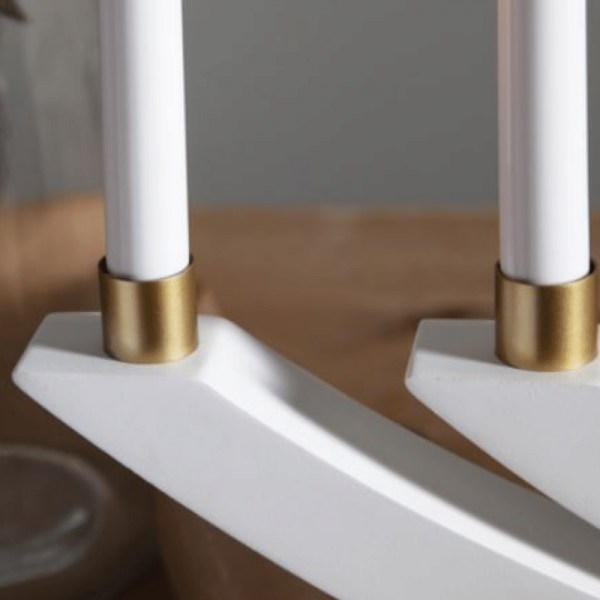 Ringhülse für Stabkerzen - gold - 7 Stück - D: 2,2cm - H: 2cm
