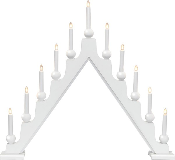 Fensterleuchter STELLAN - 11 warmweiße Glühlampen - L: 75cm, H: 69cm - Schalter - Weiß