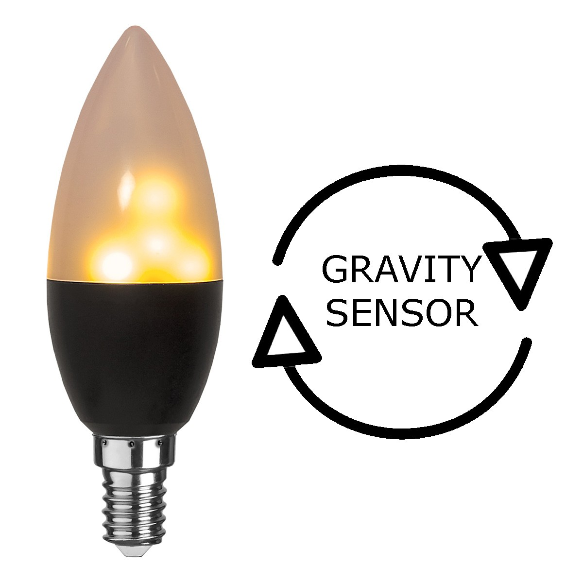 Kerzen Lampe Gravity - Flammensimulation mit LEDs - Flackernde Flammen - E14 - warmweiss