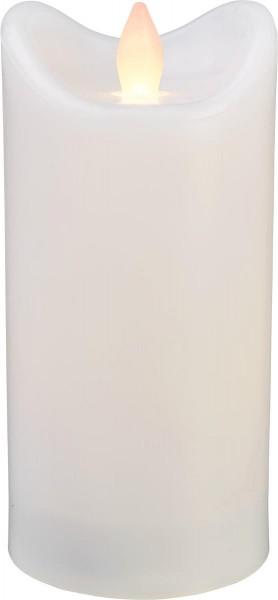 LED-Kerze | Kunststoff | Bianco-Design | flackernde LED | Timer | Weiß | →7cm | 15cm