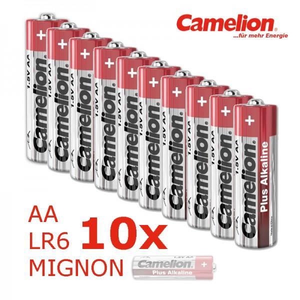 Batterie Mignon AA LR6 1,5V PLUS Alkaline - Leistung auf Dauer - 10 Stück