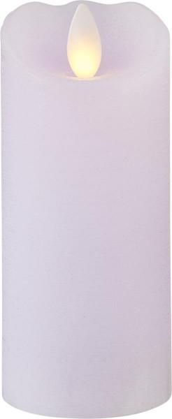 """LED Kerze """"P-Glow"""" soft-purpur mit gelber LED - H: 12,5cm D: 5,5cm - Timer"""