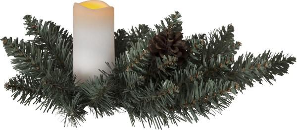 LED Gesteck Outdoor - gelbe LED - H:12 B:33cm - Timer - Dämmerungsschalter