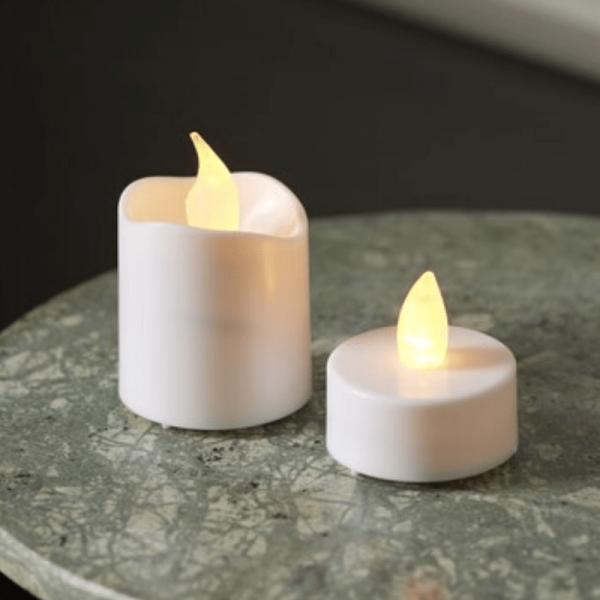 LED-Teelicht   Packy   flackernde LED   6x Mini-LED-Kerzen + 10x LED-Teelichter