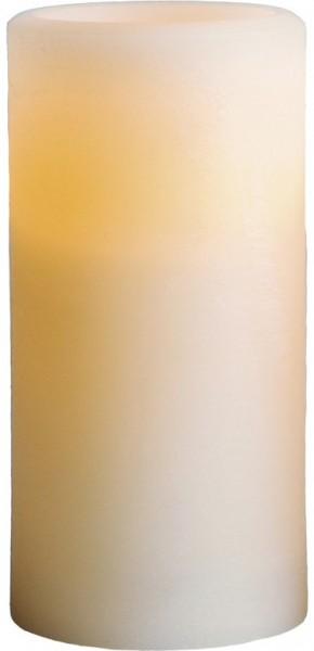 LED-Kerze | Echtwachs | Sharp-Design | flackernde LED | Timer | Creme | →7,5cm | ↑15cm
