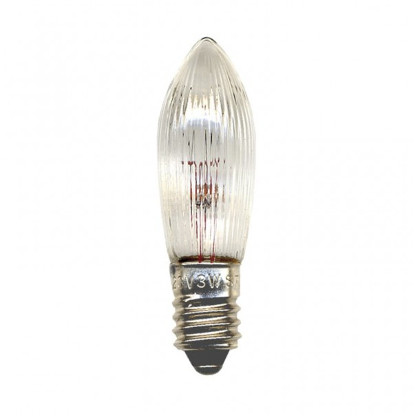 Ersatz-Leuchtmittel - E10 - 55V - 3W - 3 Stück
