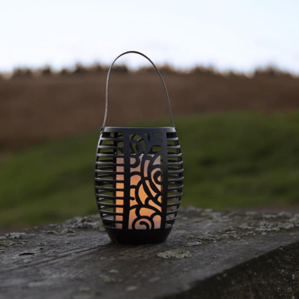 "LED Solar Fackel ""Flame"" - Laterne/Windlicht/Fackel - gelbe LED - H: 42cm - Dämmerungssensor"