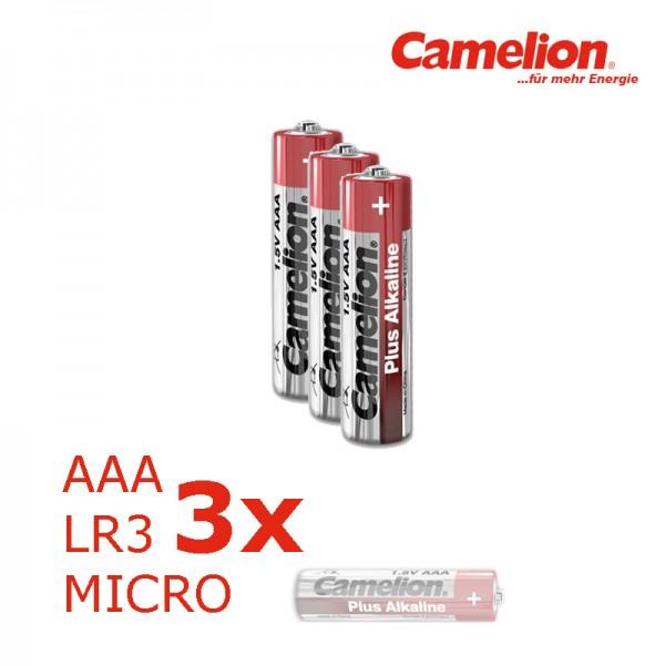 Batterie Mignon AAA LR3 1,5V PLUS Alkaline - Leistung auf Dauer - 3 Stück