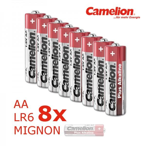 Batterie Mignon AA LR6 1,5V PLUS Alkaline - Leistung auf Dauer - 8 Stück