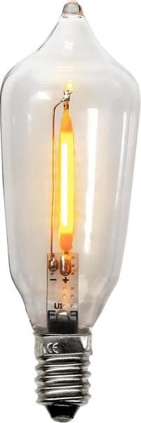 LED Ersatzleuchtmittel für Fensterleuchter - E10 - 0,4W - warmweiß - klar - 23-55V - 2 Stück